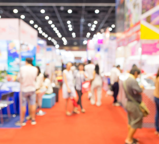 Photo of a busy tradeshow - M&N Insurance